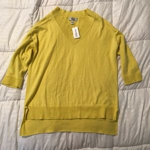 Women's Yellow Hi/Lo Sweater Size Small